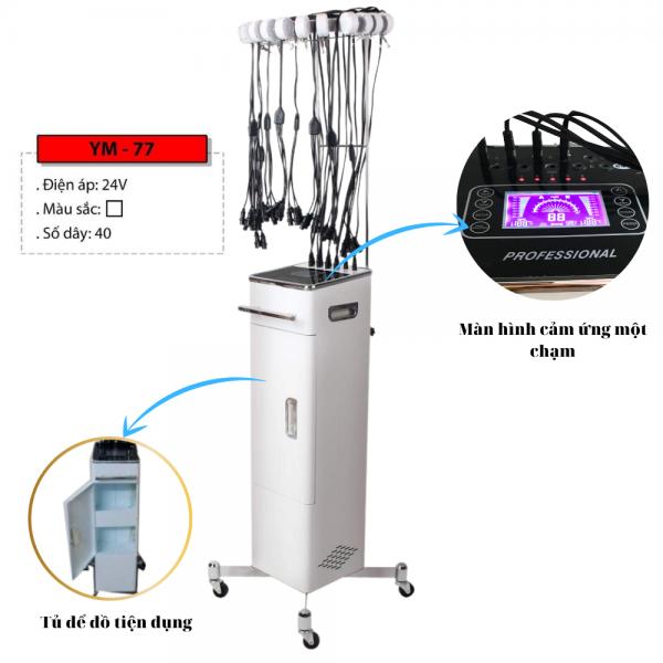 Máy uốn nóng cảm ứng 24V - 40 trục cao cấp dành cho salon tóc chuyên nghiệp