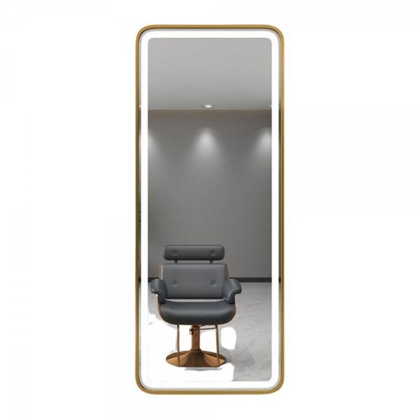 Gương  Iphone đèn led cảm ứng khung gỗ cao cấp cho salon tóc
