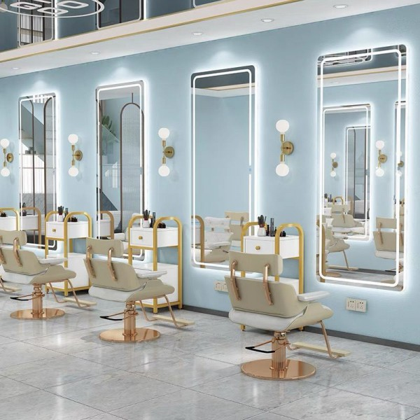 Gương  Iphone đèn LED cảm ứng tràn viền cao cấp cho salon tóc chuyên nghiệp